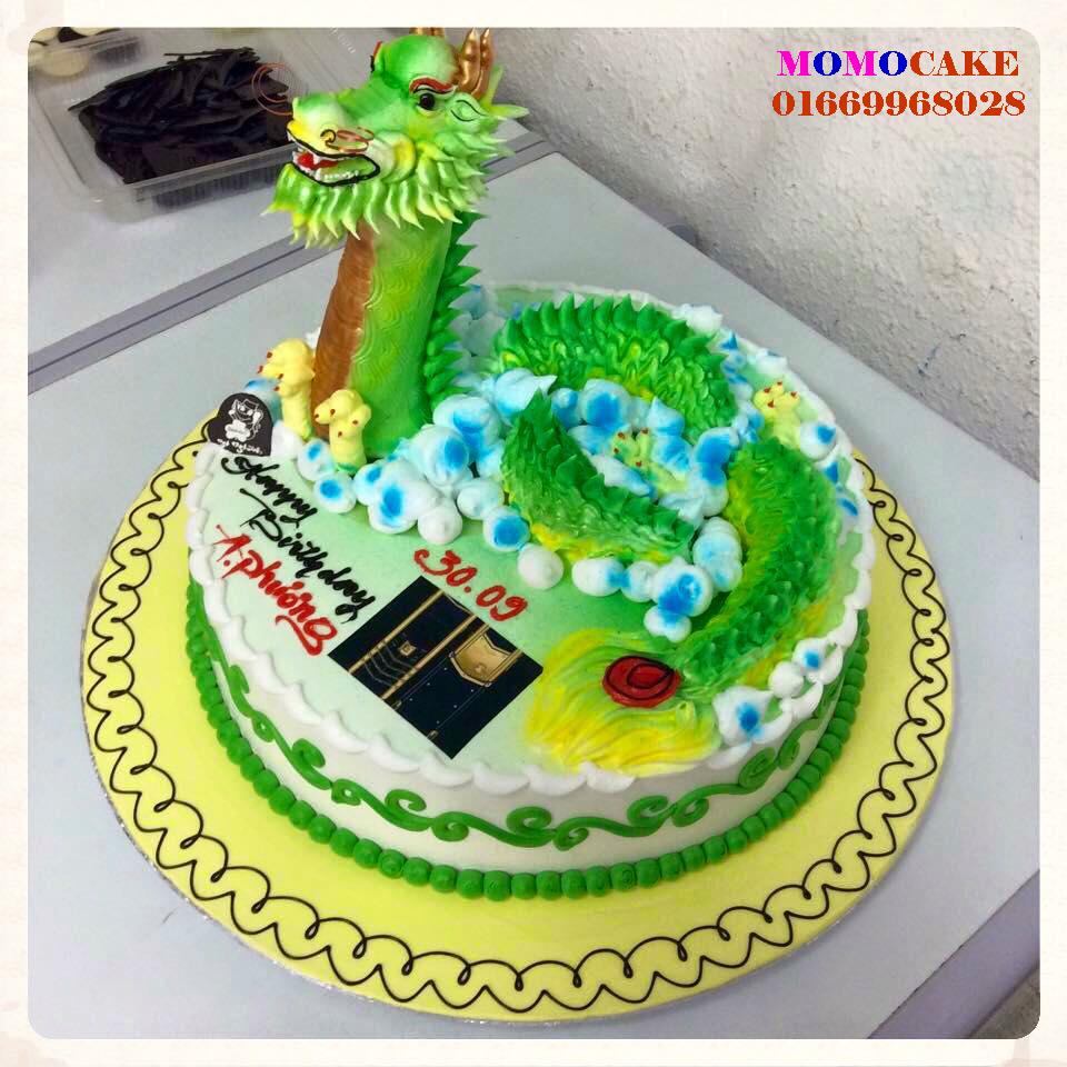Bánh sinh nhật hình con rồng in ảnh giá 200K | Bánh sinh nhật in ảnh - Bánh in ảnh ăn được, hương vị hấp dẫn
