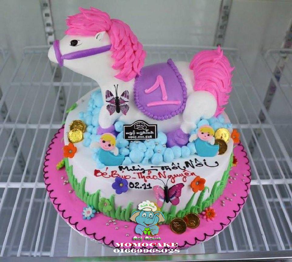 Bánh sinh nhật hình con ngựa in ảnh giá 200K | Bánh sinh nhật in ảnh - Bánh in ảnh ăn được, hương vị hấp dẫn