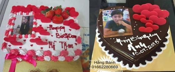 Bánh sinh nhật in ảnh dành cho người yêu