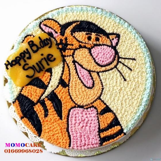 Bánh sinh nhật hình con hổ