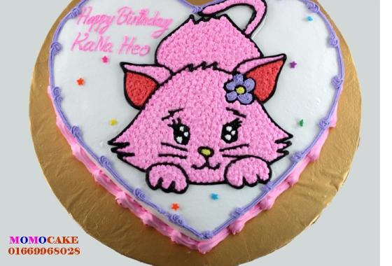 Bánh sinh nhật hình con mèo