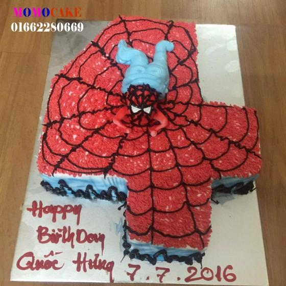 Bánh sinh nhật in ảnh cho bé 4 tuổi