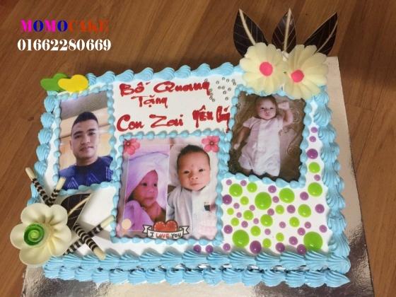 Bánh sinh nhật in ảnh cho bé 1 tuổi